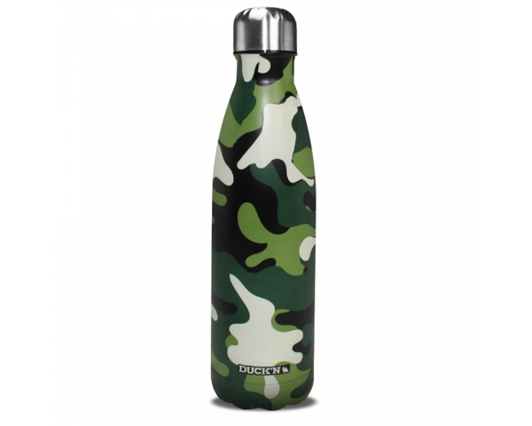 Bouteille Isotherme Camouflage Militaire finition mate 500ML Duck'n