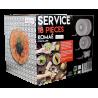 Service d'assiettes et bols 18 pièces Komae en céramique Ard'time