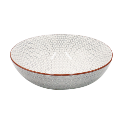 Assiette creuse Slow design design asiatique gris anthracite x 6 Ard'time