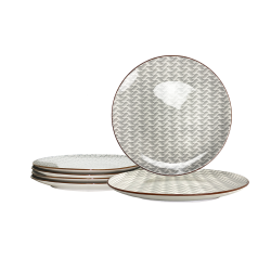 Petite assiette Slow design asiatique gris anthracite x 6 Ard'time