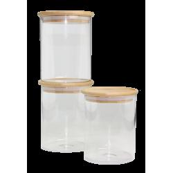 Lot de 3 bocaux de conservation Bo Byo 800 ml