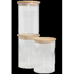 Lot de 3 bocaux de conservation Bo Byo 1100 ml