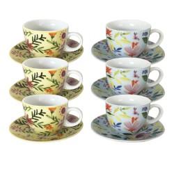 """Tasse à café """"Flowers"""" inspiration printanière et florale, classique aux motifs de plantes & fleurs. EC-6FLOTASCAF"""