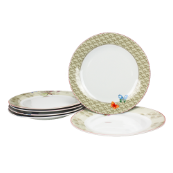 Assiette Ozio design fleuri diam 27 cm lot de 6