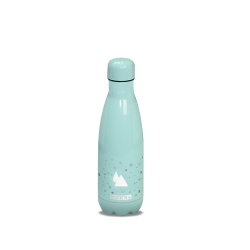 Bouteille Isotherme Turquoise Motif Bulle finition Brillante 350ML Duck'n